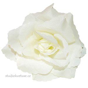 Květ růže 17 přírodně bílý