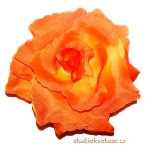 Květ růže 16 oranžový