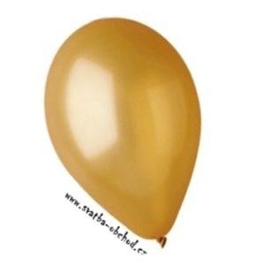 Zlatý metalický balónek 02