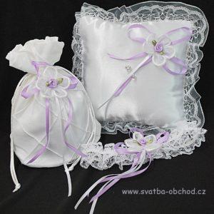 Svatební set bílý 02 fialový