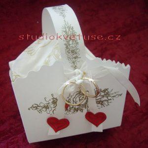 Košíček na koláčky zlatý potisk