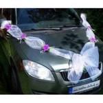 Mašle na auto 03 - klasik s květy (2)
