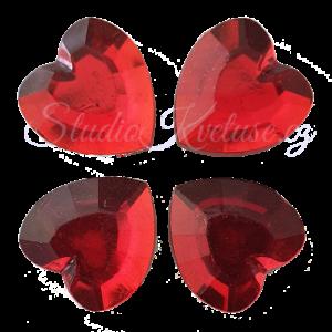 Srdíčka broušená