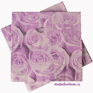 Ubrousky 18 fialové růže 20 kusů