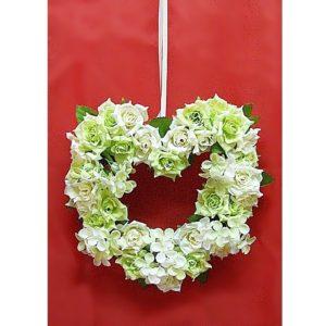 Závěs na dveře 11 zelené srdce