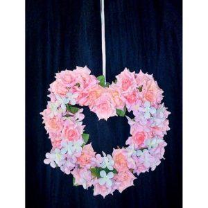 Závěs na dveře 12 růžové srdce