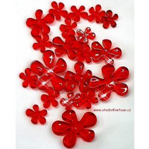 Červené kytičky 09