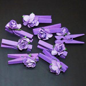 Kolíček 17 fialová růžička