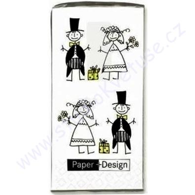 Papírové kapesníčky svatební 01