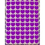 Srdíčka fialová folie 20