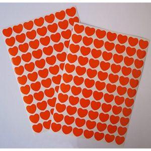 Srdíčka oranžová folie 23
