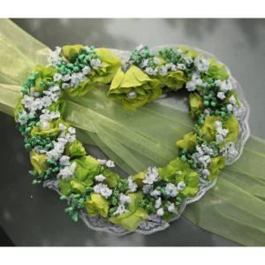 Srdíčko 11 zelené kytičky