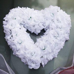 Srdíčko bílé 06 z růžiček