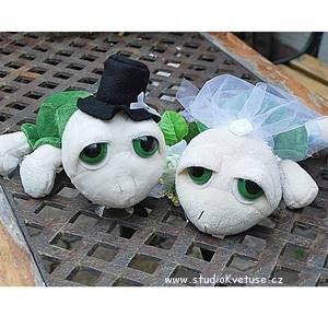 Svatební želvičky zelené 01 (1)