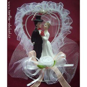 650c8b182ed8 ... Svatební figurka ve srdíčku 37