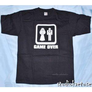 Tričko černé 01 Game over