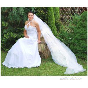 Dlouhý svatební závoj 300+100A