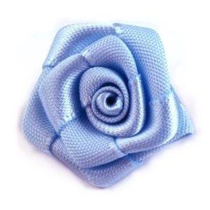 Růžička skládaná 11 modrá a