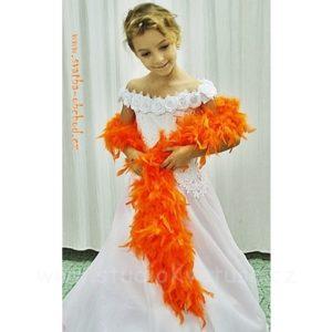 Boa péřové 02 oranžové