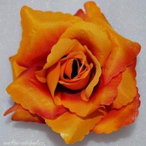 Květ růže 06 oranžový a