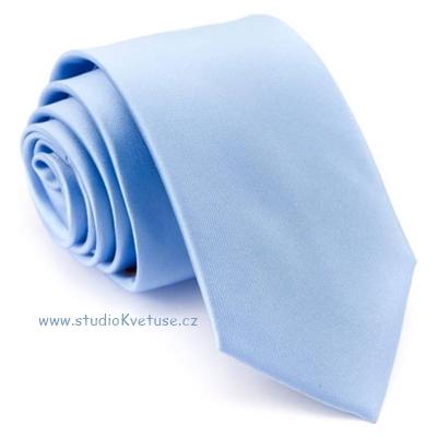 a331c53850f Kravata 105 - modrá - hladká matná - Studio Květuše