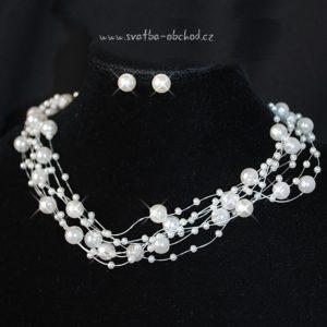 Náhrdelník 408 bílé perličky