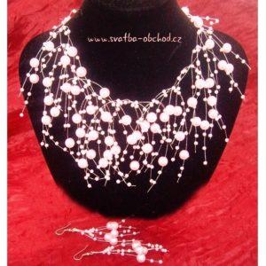 Náhrdelník 440 růžové perličky