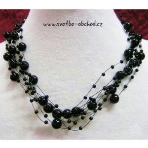 Náhrdelník 448 černé perličky
