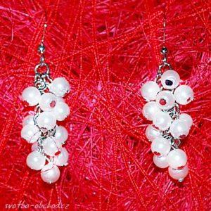 Náušnice 08 bílé perličky