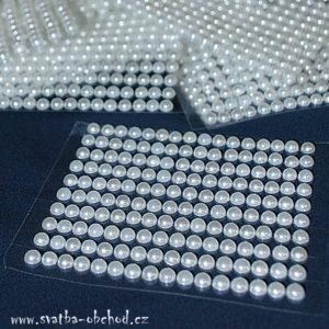 Nalepovací perličky 01 bílé