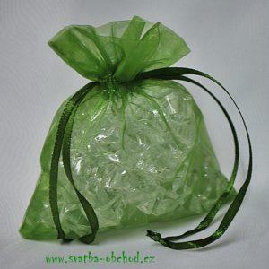 Pytlíček 25 zelený organzový