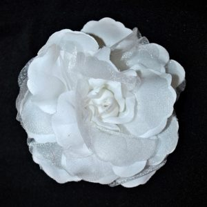 Růže 01 bílá s leskem 11cm
