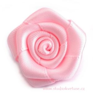 Růžička skládaná 04 růžová a