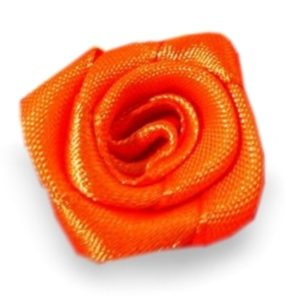 Růžička skládaná 07 oranžová a