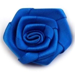 Růžička skládaná 10 modrá a