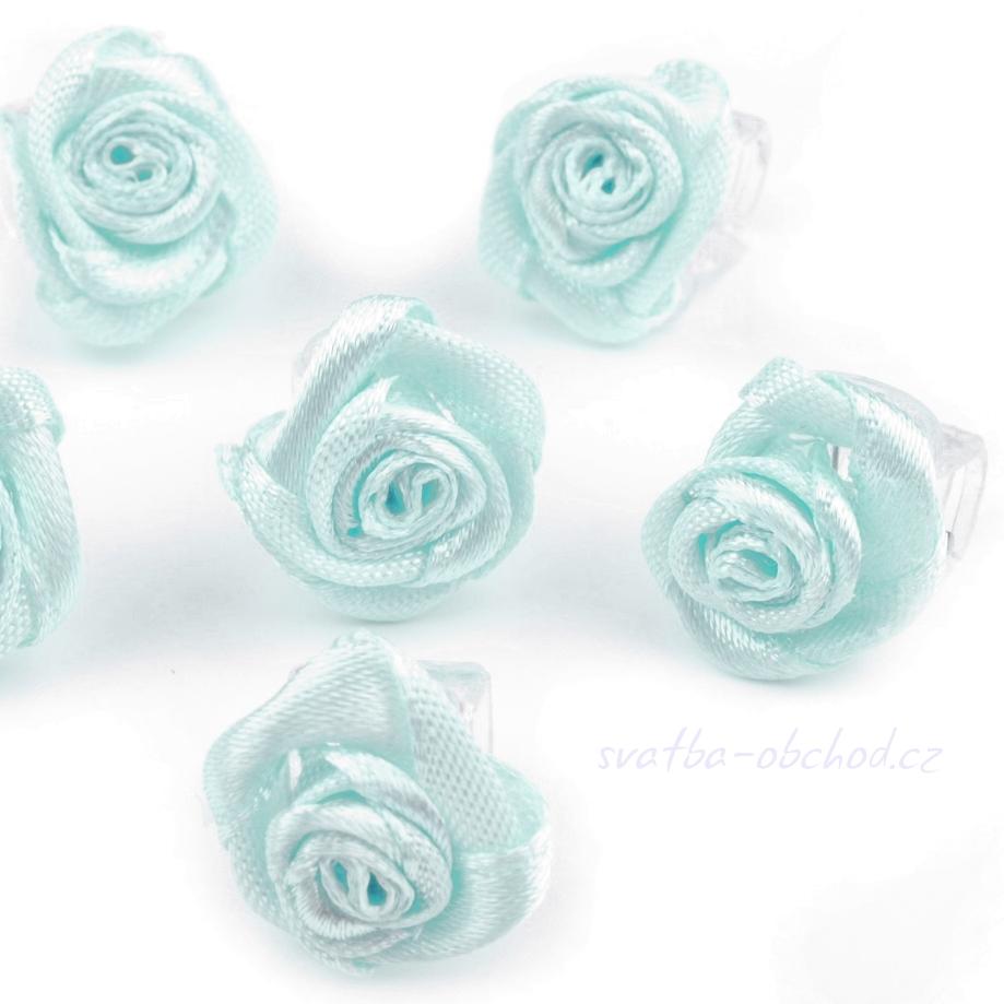 Skřipeček 09 - modrá růžička - Studio Květuše svatební účes 5379faaeb8