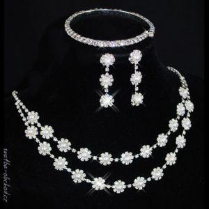 Souprava 370 bílé perličky
