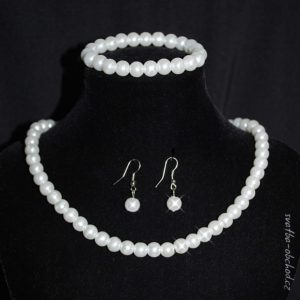 Souprava 356 bílé perličky