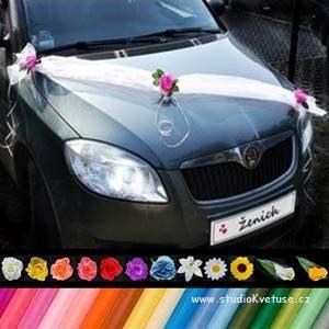 Šerpa na auto 02 - s květy