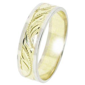 Snubní prsten B16 kombinované zlato (4)