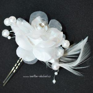 Vlásenka s kytičkou 071 bílá