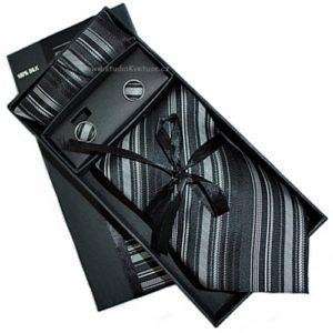 Kravata knoflíčky kapesníček 01 proužky