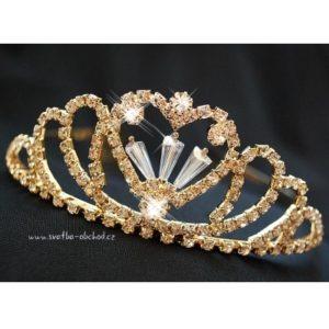 Svatební korunka 65 zlatý kov