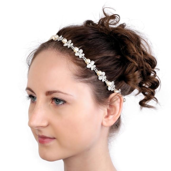 Luxusní čelenka 80 štras perličky - Studio Květuše d7b6bead96