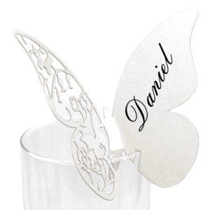Jmenovka 05 bílý motýlek