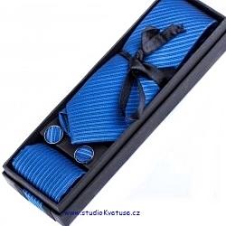 Kravata knoflíčky kapesníček 04 modré