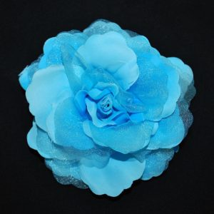 Růže 01 modrá s leskem 11cm