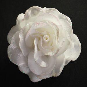 Růže 02 bílá s leskem 10cm