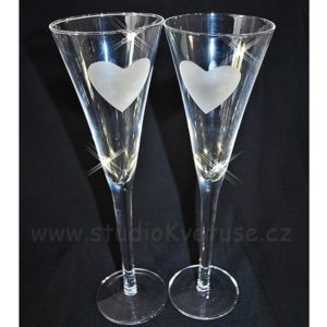 Svatební skleničky na přípitek 06