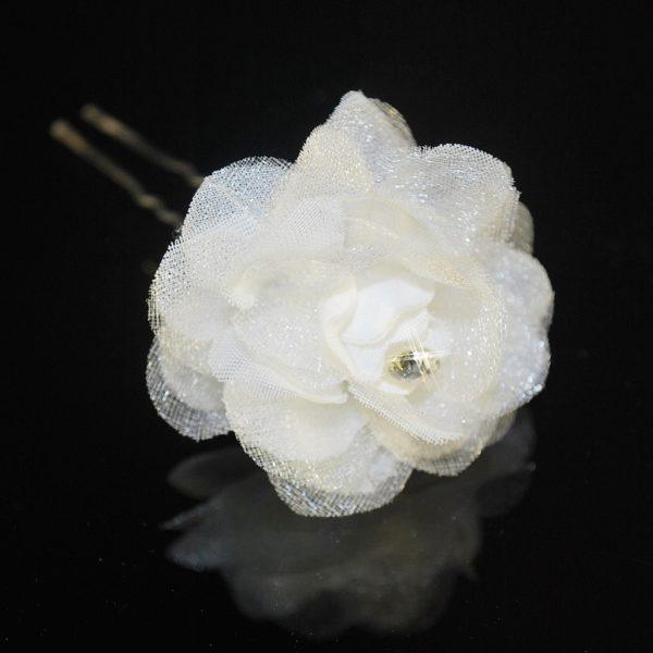 Vlásenka s kytičkou 069 bílá
